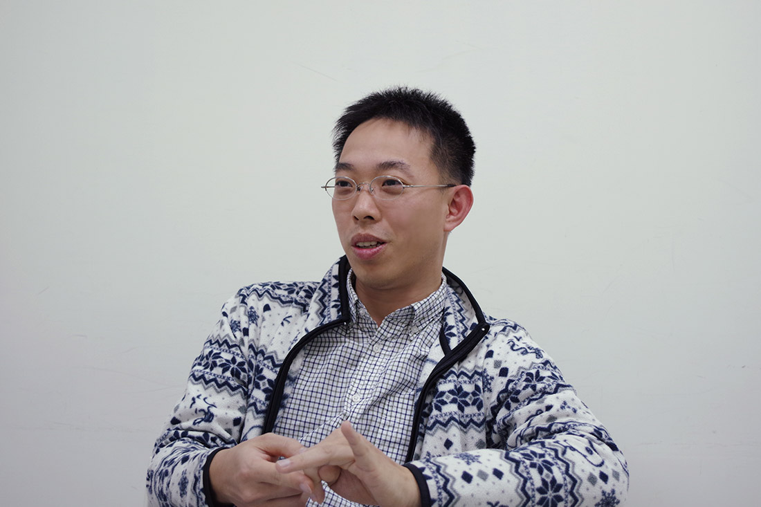 李先生現場與專員分享轉換G Suite Basic後的好處