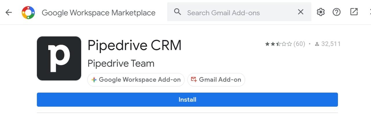 Chrome擴充工具––「Pipedrive CRM」